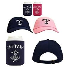dc0517a0f6ff3 Funny Sailing Captain and First Mate Hat. Funny Sailing Captain and First  Mate Hat Embroidered Cap and Funny Beer Coolies Can Coolers Gift Set Bundle